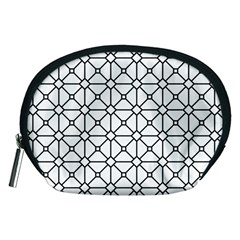 Mesh Pattern Grid Line Accessory Pouch (medium) by AnjaniArt