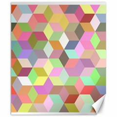 Mosaic Background Cube Pattern Canvas 8  X 10