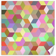 Mosaic Background Cube Pattern Canvas 12  X 12  by AnjaniArt