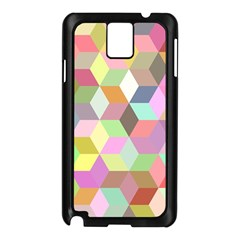 Mosaic Background Cube Pattern Samsung Galaxy Note 3 N9005 Case (black) by AnjaniArt