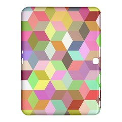 Mosaic Background Cube Pattern Samsung Galaxy Tab 4 (10 1 ) Hardshell Case  by AnjaniArt