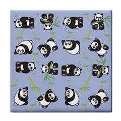 Panda Tile Cute Pattern Face Towel