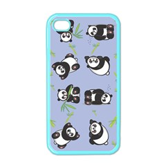 Panda Tile Cute Pattern Apple Iphone 4 Case (color)