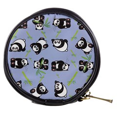 Panda Tile Cute Pattern Mini Makeup Bag by AnjaniArt