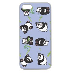 Panda Tile Cute Pattern Apple Seamless Iphone 5 Case (clear) by AnjaniArt