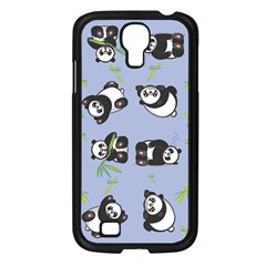 Panda Tile Cute Pattern Samsung Galaxy S4 I9500/ I9505 Case (black)