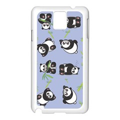 Panda Tile Cute Pattern Samsung Galaxy Note 3 N9005 Case (white) by AnjaniArt