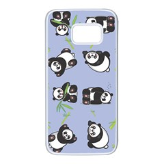 Panda Tile Cute Pattern Samsung Galaxy S7 White Seamless Case