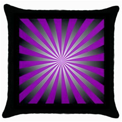 Purple Abstract Background Throw Pillow Case (black)