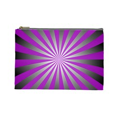 Purple Abstract Background Cosmetic Bag (large)