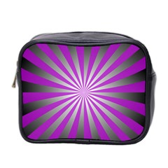 Purple Abstract Background Mini Toiletries Bag (two Sides)