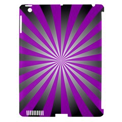 Purple Abstract Background Apple Ipad 3/4 Hardshell Case (compatible With Smart Cover)