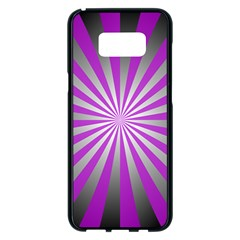 Purple Abstract Background Samsung Galaxy S8 Plus Black Seamless Case