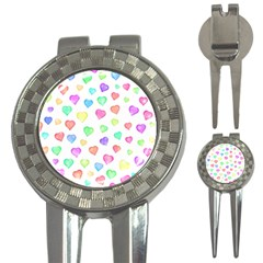 Love Hearts Shapes 3 In 1 Golf Divots by AnjaniArt