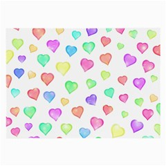 Love Hearts Shapes Large Glasses Cloth
