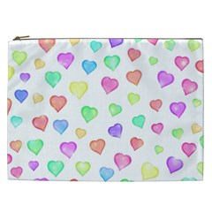 Love Hearts Shapes Cosmetic Bag (xxl)