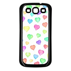 Love Hearts Shapes Samsung Galaxy S3 Back Case (black)