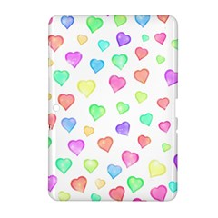 Love Hearts Shapes Samsung Galaxy Tab 2 (10 1 ) P5100 Hardshell Case  by AnjaniArt