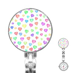 Love Hearts Shapes Stainless Steel Nurses Watch by AnjaniArt