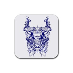 Katana Skull Rubber Coaster (square)  by Jojostore