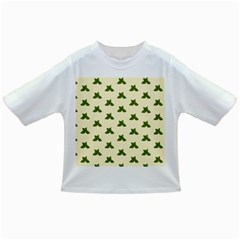 Leaf Pattern Green Wallpaper Tea Infant/toddler T Shirts