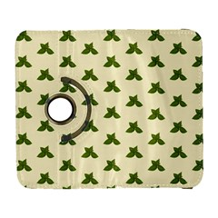 Leaf Pattern Green Wallpaper Tea Samsung Galaxy S  Iii Flip 360 Case