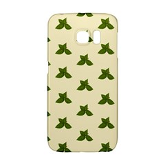 Leaf Pattern Green Wallpaper Tea Samsung Galaxy S6 Edge Hardshell Case