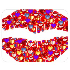 Heart Lips Kiss Romance Passion Double Sided Flano Blanket (medium)