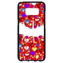 Heart Lips Kiss Romance Passion Samsung Galaxy S8 Black Seamless Case