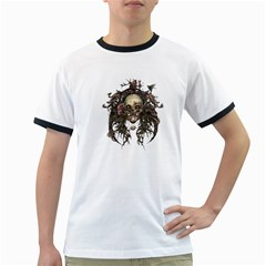 Illustration   Skull Ringer T by Jojostore