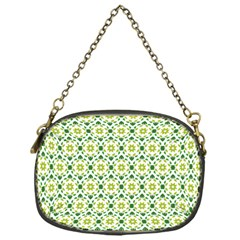 Leaves Floral Flower Flourish Chain Purse (one Side)