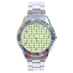 Leaves Floral Flower Flourish Stainless Steel Analogue Watch