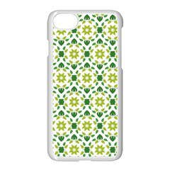 Leaves Floral Flower Flourish Apple Iphone 8 Seamless Case (white) by Jojostore