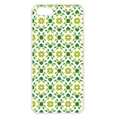 Leaves Floral Flower Flourish Apple Iphone 5 Seamless Case (white) by Jojostore