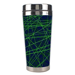 Line Geometric Blue Object Tinker Stainless Steel Travel Tumblers