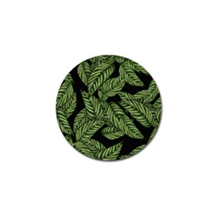 Leaves Black Background Pattern Golf Ball Marker (10 Pack)