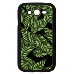 Leaves Black Background Pattern Samsung Galaxy Grand Duos I9082 Case (black) by Jojostore