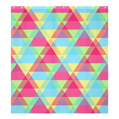 Pattern Bright Triangle Pink Blue Shower Curtain 66  X 72  (large)