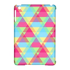 Pattern Bright Triangle Pink Blue Apple Ipad Mini Hardshell Case (compatible With Smart Cover)