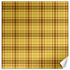 Plaid Seamless Gold Butterscotch Canvas 12  X 12  by Jojostore