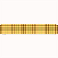 Plaid Seamless Gold Butterscotch Small Bar Mats by Jojostore