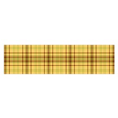 Plaid Seamless Gold Butterscotch Satin Scarf (oblong)