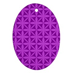 Purple Magenta Wallpaper Seamless Pattern Ornament (oval)