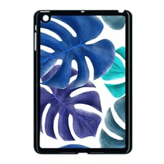 Leaves Tropical Blue Green Nature Apple Ipad Mini Case (black)