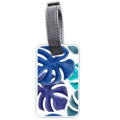 Leaves Tropical Blue Green Nature Luggage Tags (one Side)