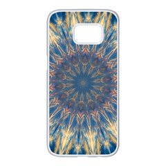 Kaleidoscope Mandala Samsung Galaxy S7 Edge White Seamless Case by Alisyart