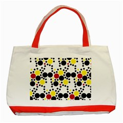 Pattern Circle Texture Classic Tote Bag (red) by Alisyart