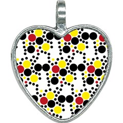 Pattern Circle Texture Heart Necklace by Alisyart