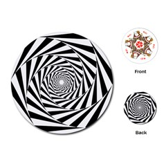 Pattern Texture Spiral Playing Cards (round)