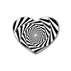Pattern Texture Spiral Rubber Coaster (heart)